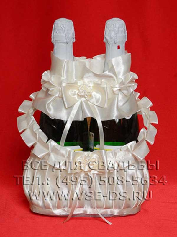 Корзинка для шампанского на свадьбу мастер-класс